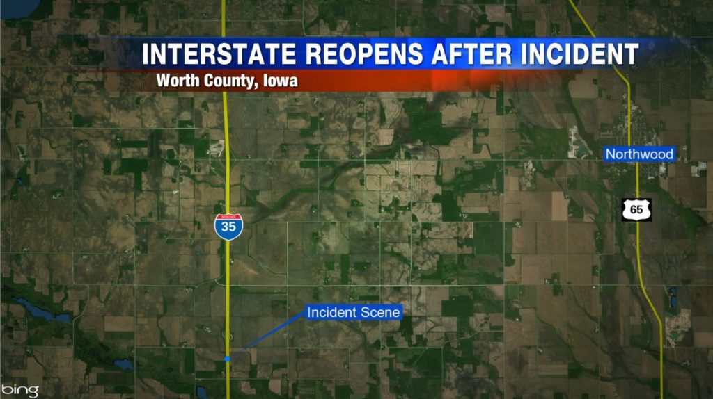 Incident closes part of I-35 Tuesday afternoon