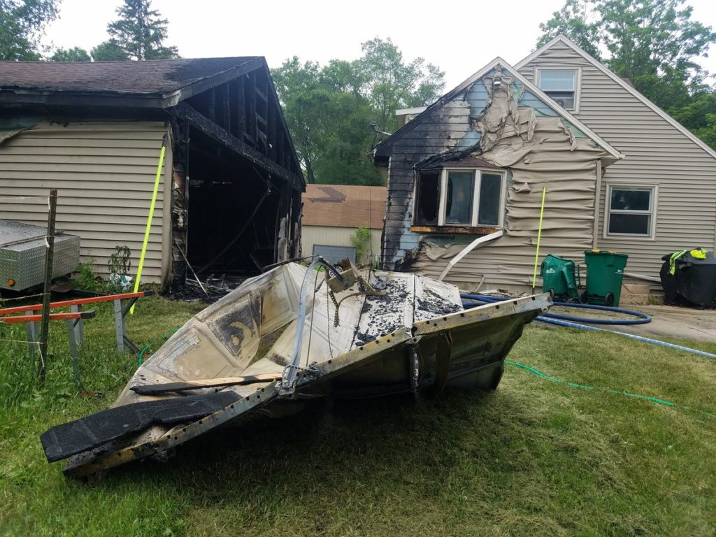 An extinguished fire in Southeast Rochester.