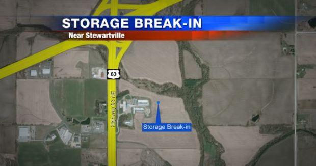 $2,000 worth of items reported stolen from Stewartville storage unit