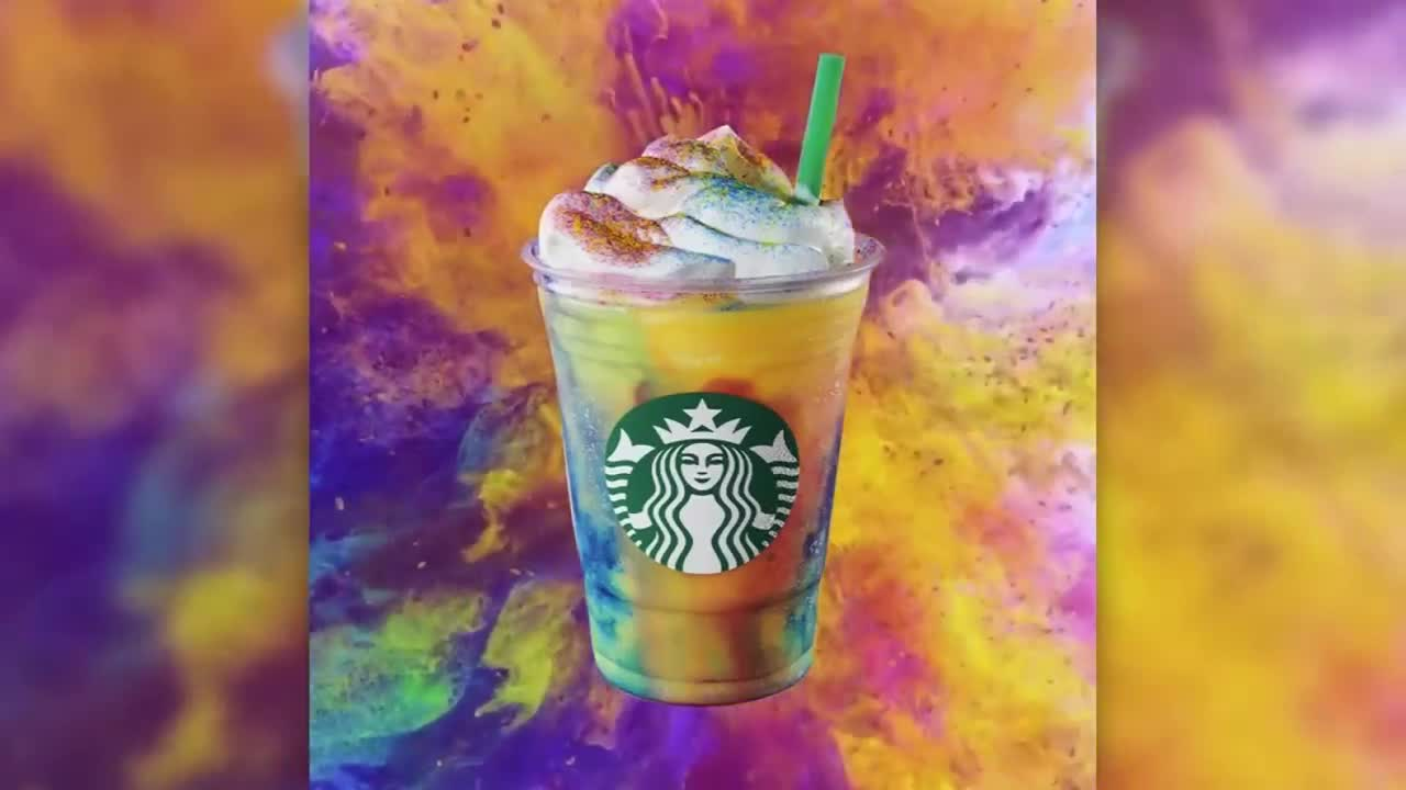 Starbucks offering tie-dye frappuccino for a limited time