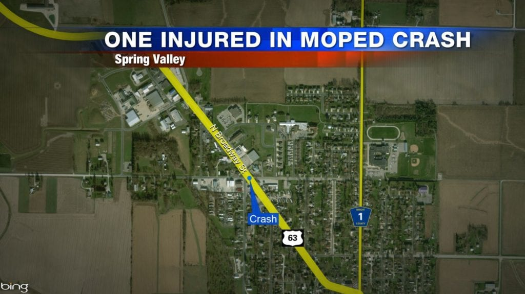 Moped rider taken to hospital after crash in Spring Valley