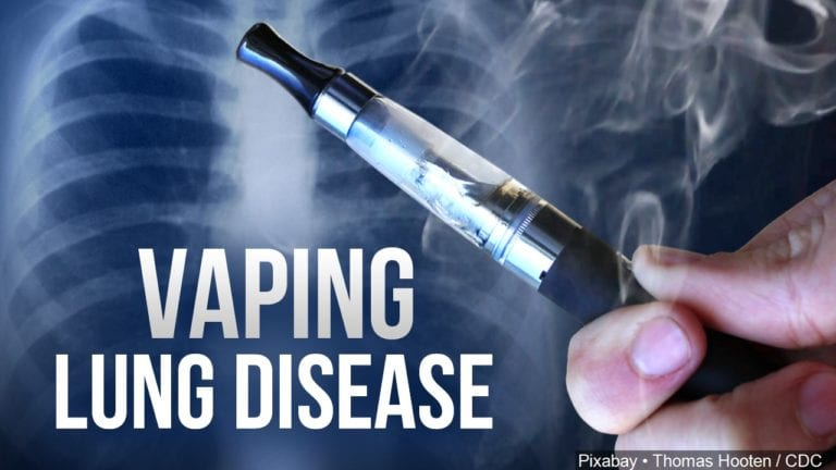 Vaping lung disease graphic