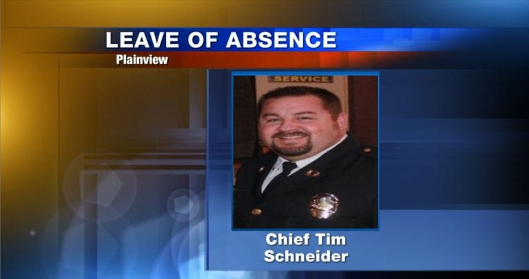 City of Plainview Chief of Police Tim Schneider.