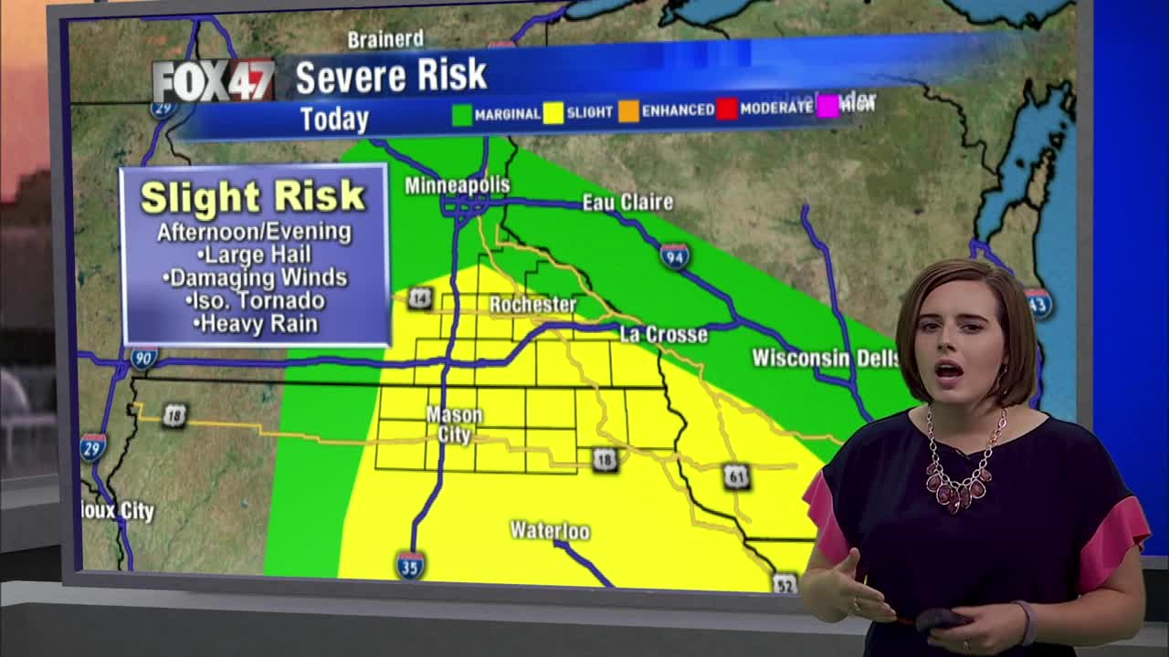 Storms likely today; Quieter weather pattern moves in Friday