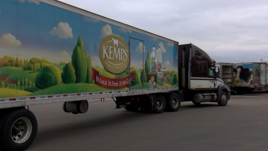 Kemps semi at Rochester AMPI plant
