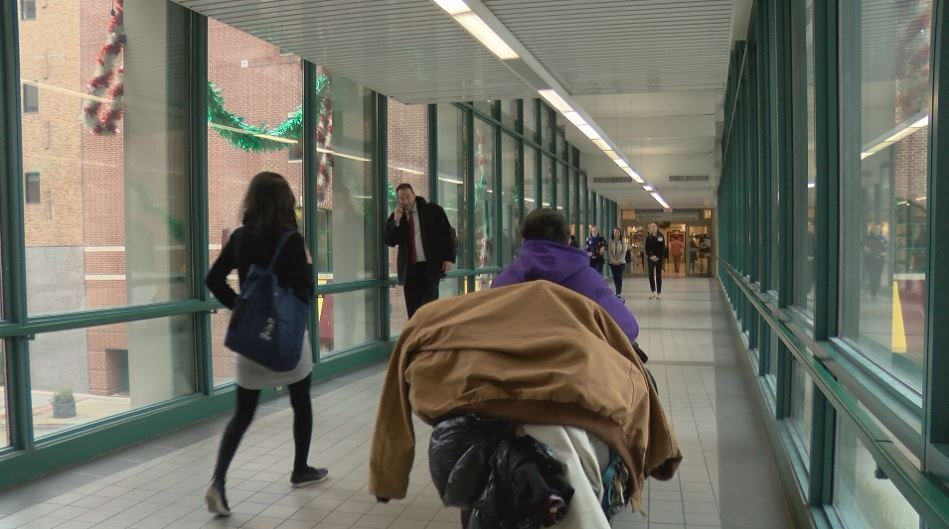 Once the warming shelter opens, there will be skyway restrictions in Rochester