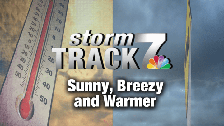 TRACKING: Breezy and warm through Friday