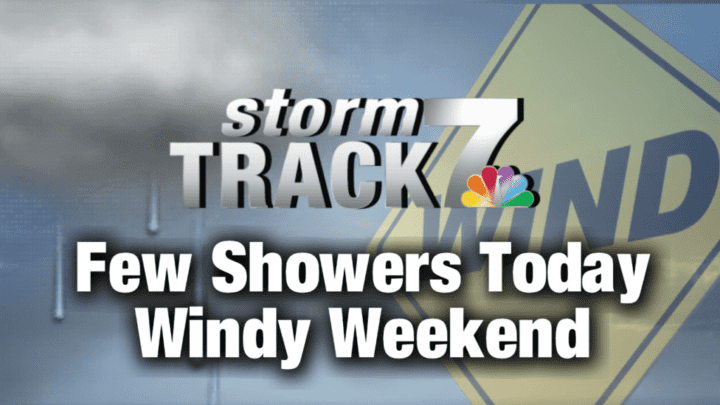 TRACKING: Scattered showers and windy today