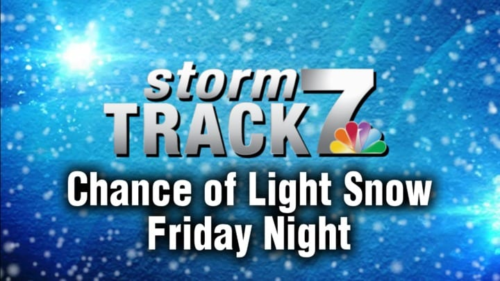 TRACKING: Chance of light snow