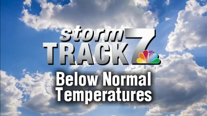 TRACKING: Below normal temperatures