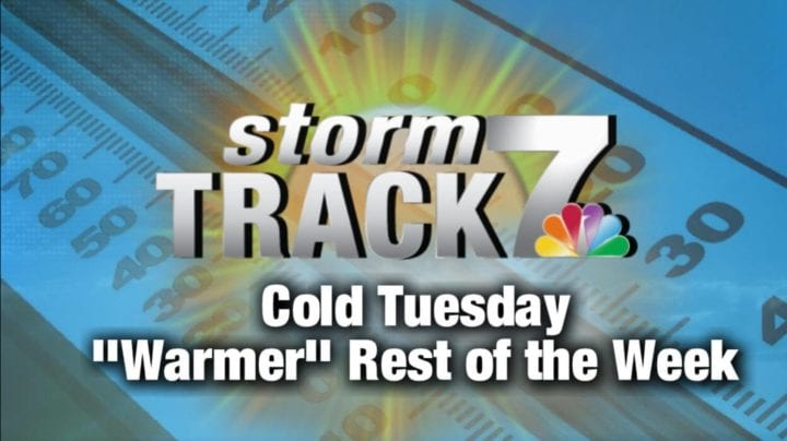 TRACKING: Cold Tuesday with sunshine
