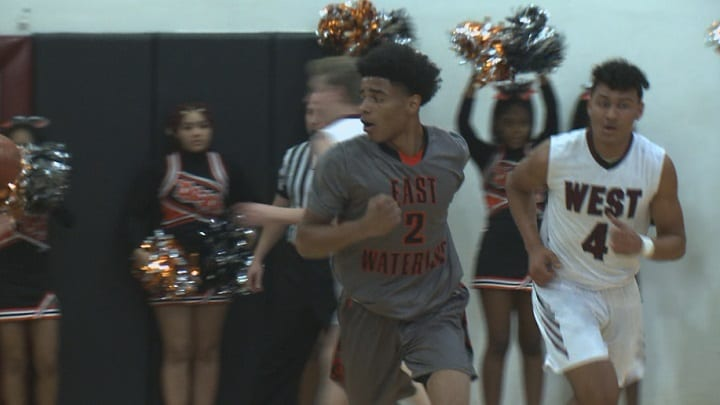 Waterloo East boys pull past rival West 89-72