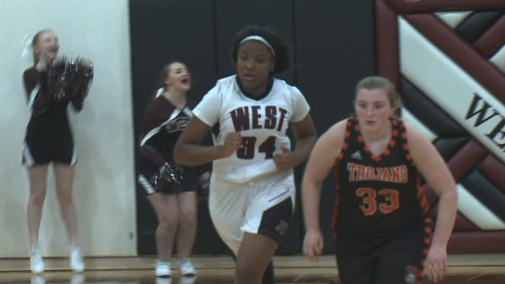 Waterloo West girls roll past rival East