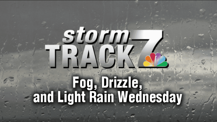TRACKING: Drizzle, fog, light rain today