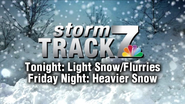 TRACKING: A winter storm Friday night.