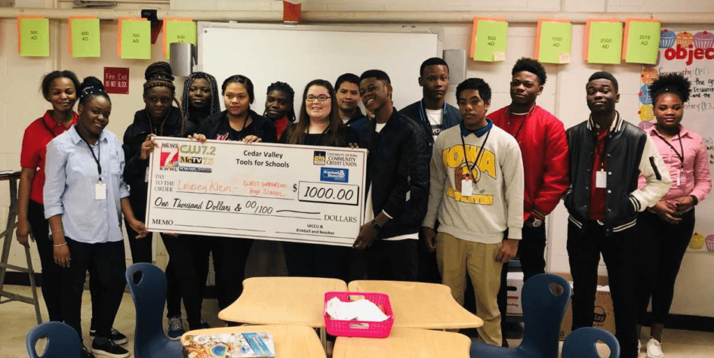 Fourth Cedar Valley Tools for School award goes to teacher at West High