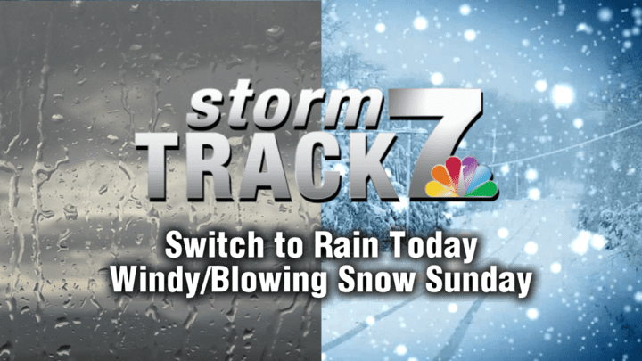 TRACKING: Switch to rain then winds and snow