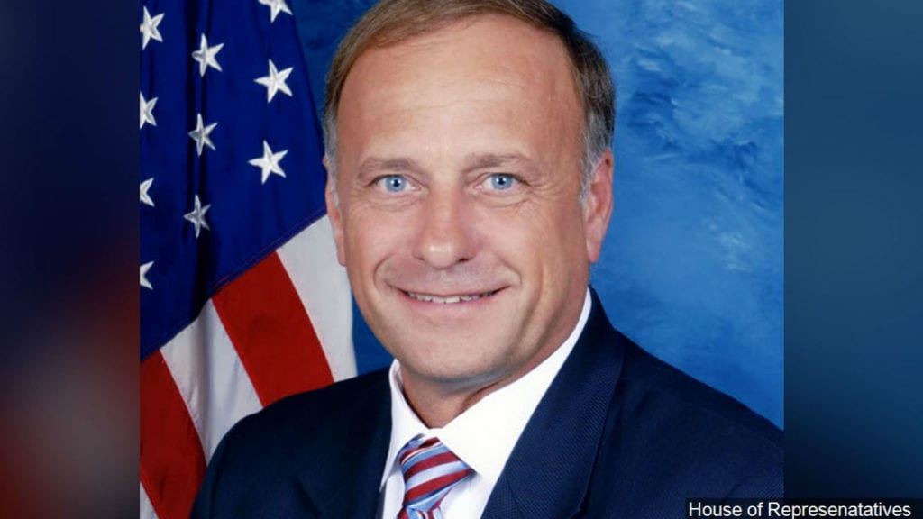 Man charged for throwing water on Iowa Rep. Steve King