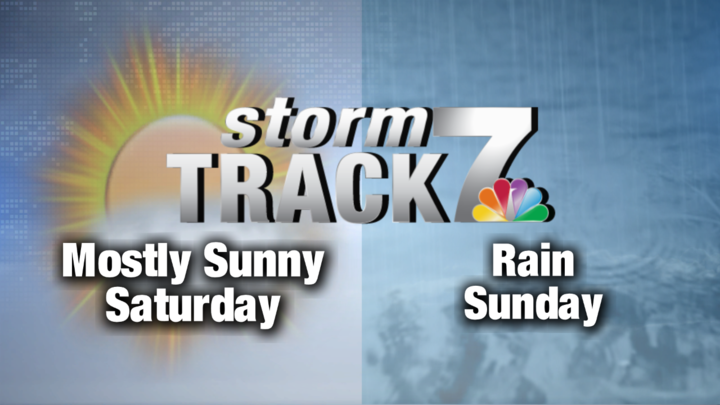 TRACKING: Sunny Saturday, Rainy Sunday