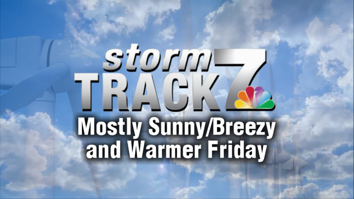TRACKING: Warmer weather into the weekend