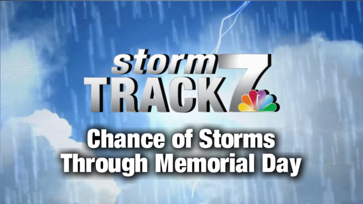 TRACKING: Sunshine today, chance of storms through Memorial Day