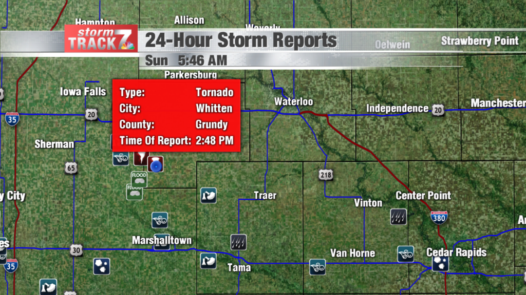 Saturday storm reports and photos - KWWL