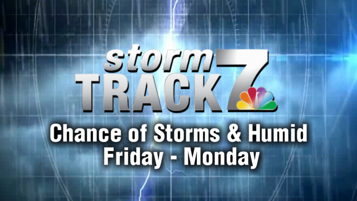 TRACKING: Increasing humidity and storm chances