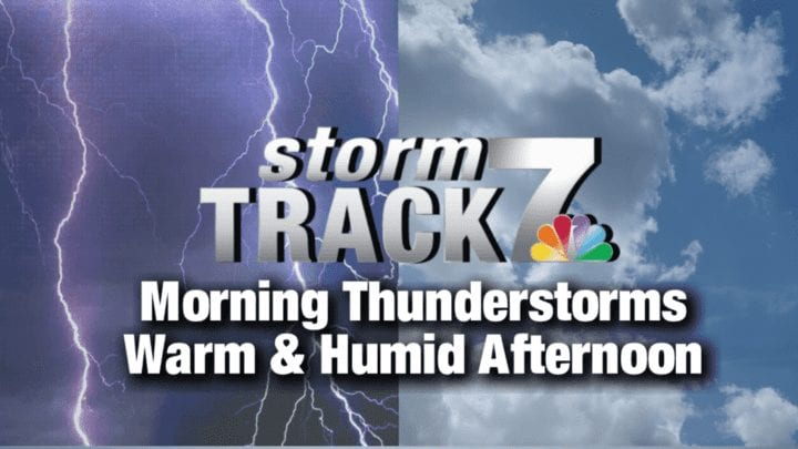 TRACKING: Rain and thunderstorms this morning