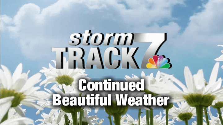 TRACKING: More beautiful weather