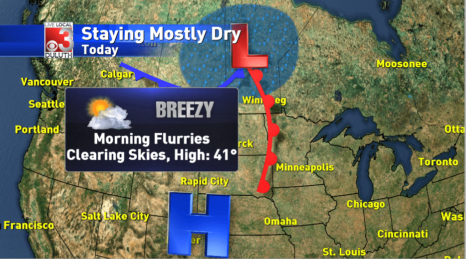 Dry, Chilly and Breezy to start the week