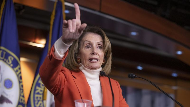 Trump jumps in to offer aid to Democrat Pelosi's speaker bid