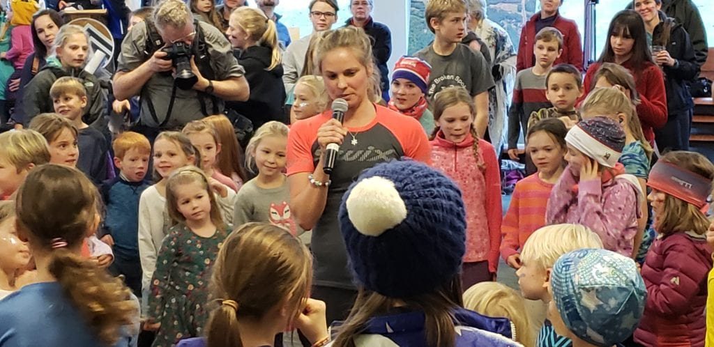 Olympian Jessie Diggins visits Duluth