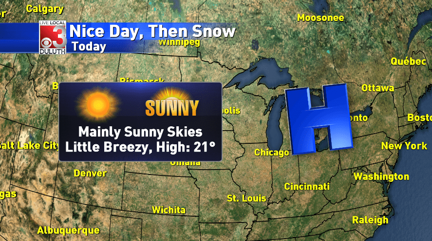 Sunshine today, then more snow on the way
