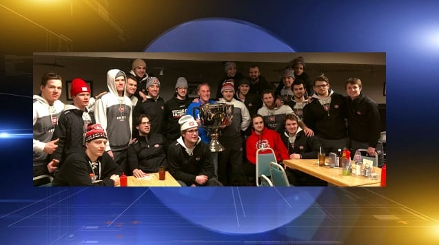 SCSU hockey team housed in County Jail after getting stuck on the way home