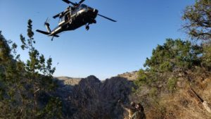 A Border Patrol Agent was airlifted after being injured while chasing suspected smugglers near Nogales. (April 2019) PHOTO: US Customs and Border Protection