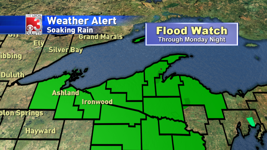 Flood watch in effect for parts of NW WI & the U.P.