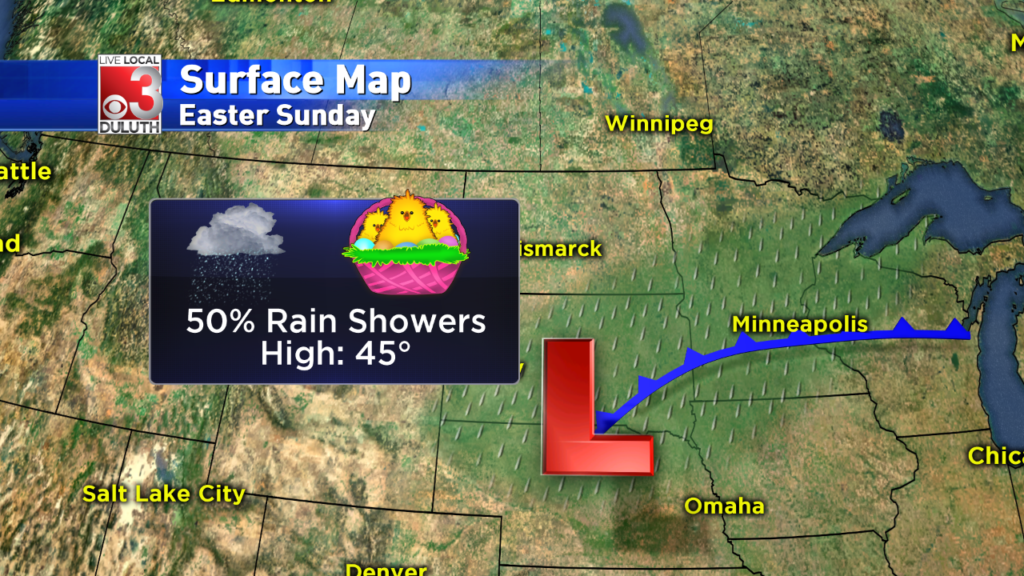 Rainy Easter Sunday, and cooler temps