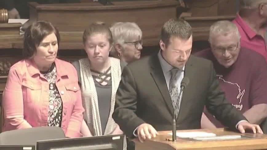 Jayme Closs honored before state Assembly as hometown hero