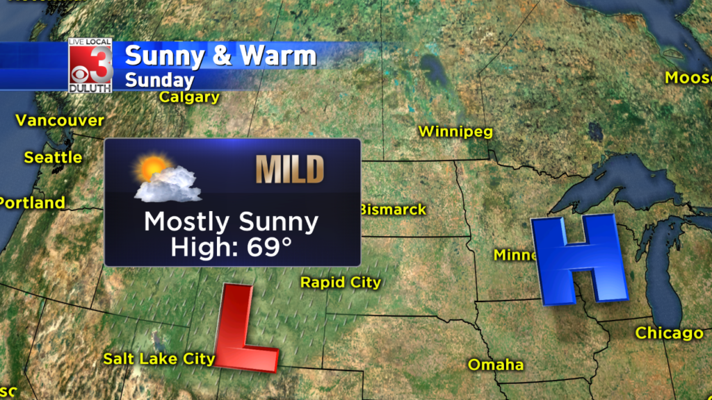 Sunshine & mild temperatures stick around for Sunday