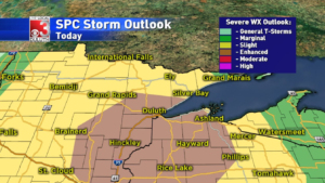 UPDATE: WEATHER ALERT: Chance of severe t-storms increasing