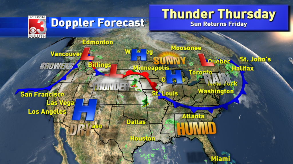 Summer style temps will linger even though Thursday may pack thunder