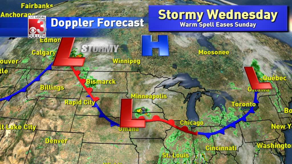 Calm Tuesday night to give way to stormy Wednesday