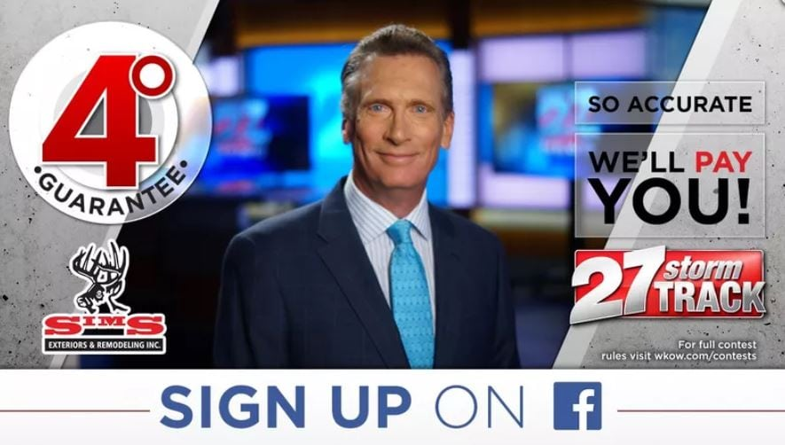 4-degree guarantee contest from WKOW's Storm Track Weather Team