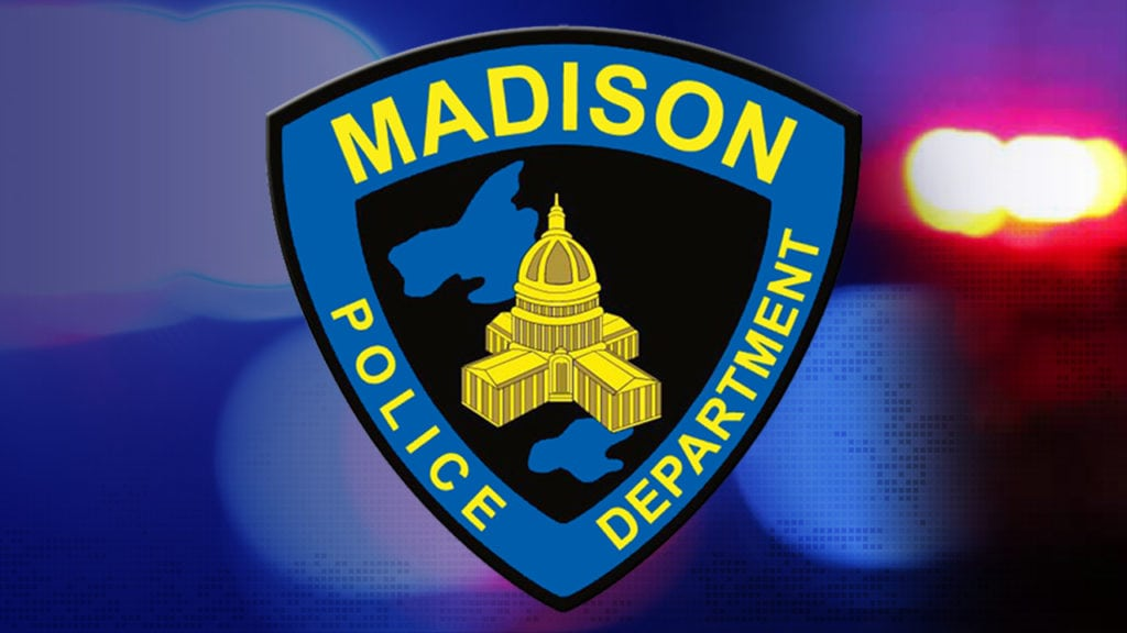 Madison police squad car gets hit during a traffic stop