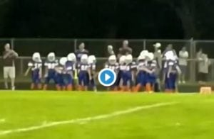 Janesville Gazette photographer Angela Major caught this youth football team flossing on the sideline.