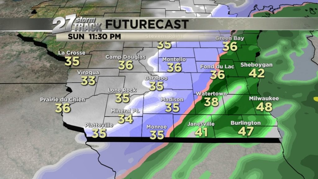 First snowflakes of the season expected in southern Wisconsin tonight