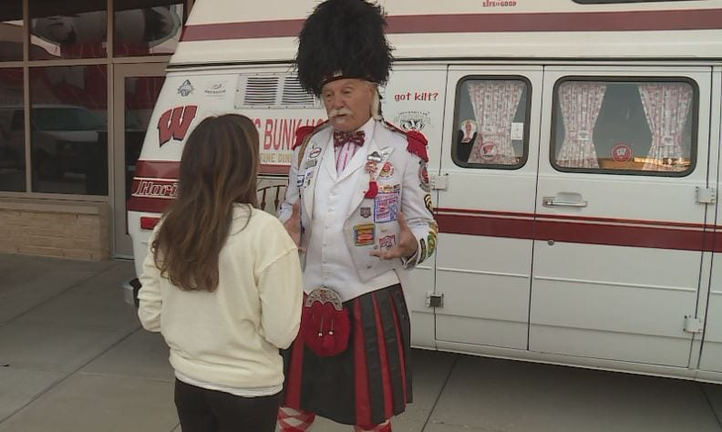 Badger fan Kilted Ken is on a record-breaking mission