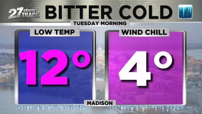 Madison forecast by Tuesday morning