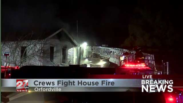 UPDATE: Woman hospitalized after house fire in Hanover