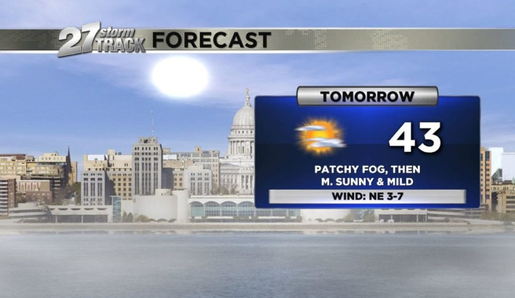The warmth sticks around tomorrow